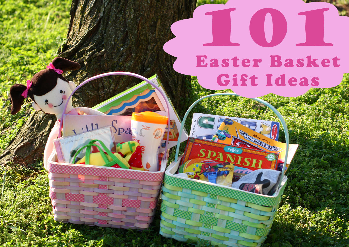 101 kids easter basket ideas the mom creative 101 kids easter basket gift ideas negle Gallery