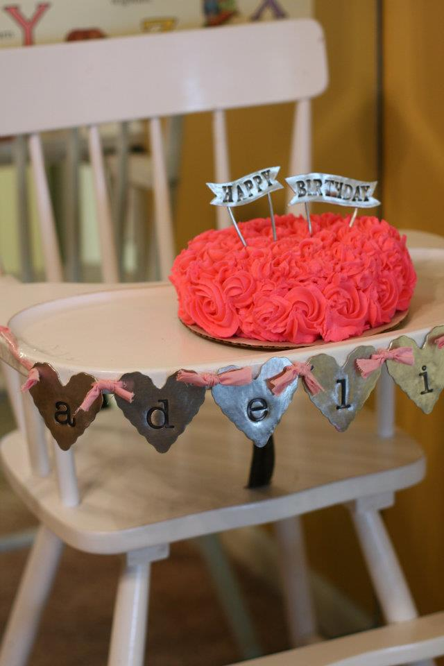 1st Birthday Party: Pom Poms, Pennants and Pinwheels