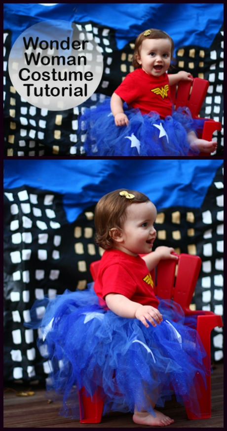 Baby Wonder Woman costume tutorial with step by step instructions