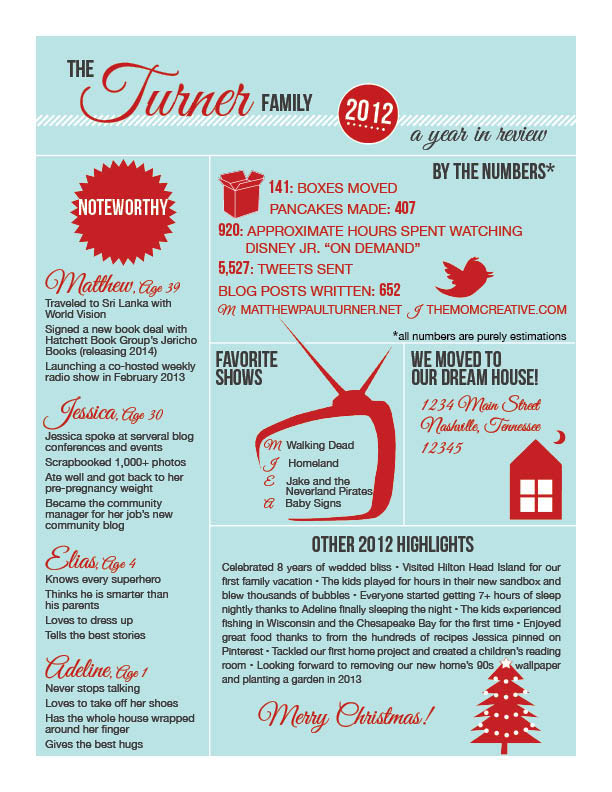 infographic christmas letter the mom creative. Black Bedroom Furniture Sets. Home Design Ideas