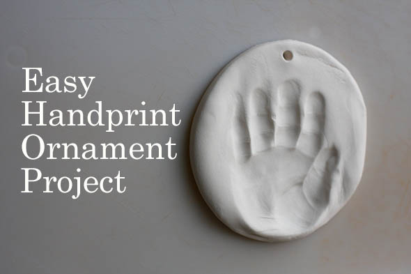 Easy Handprint Ornament Project