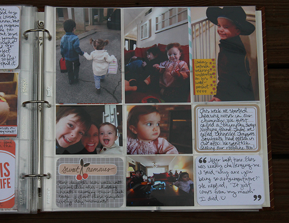 Project Life Tuesday - Vertical photos + Horizontal journaling cards