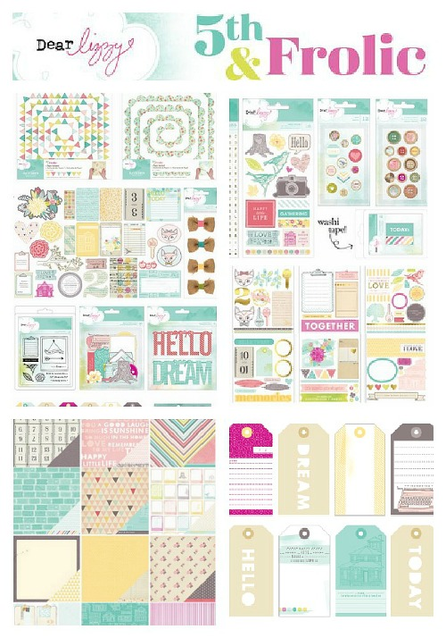 Project life tuesday week 7 featuring dear lizzy the for American crafts page protectors 8x8