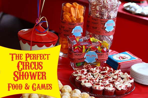circus baby shower food and games