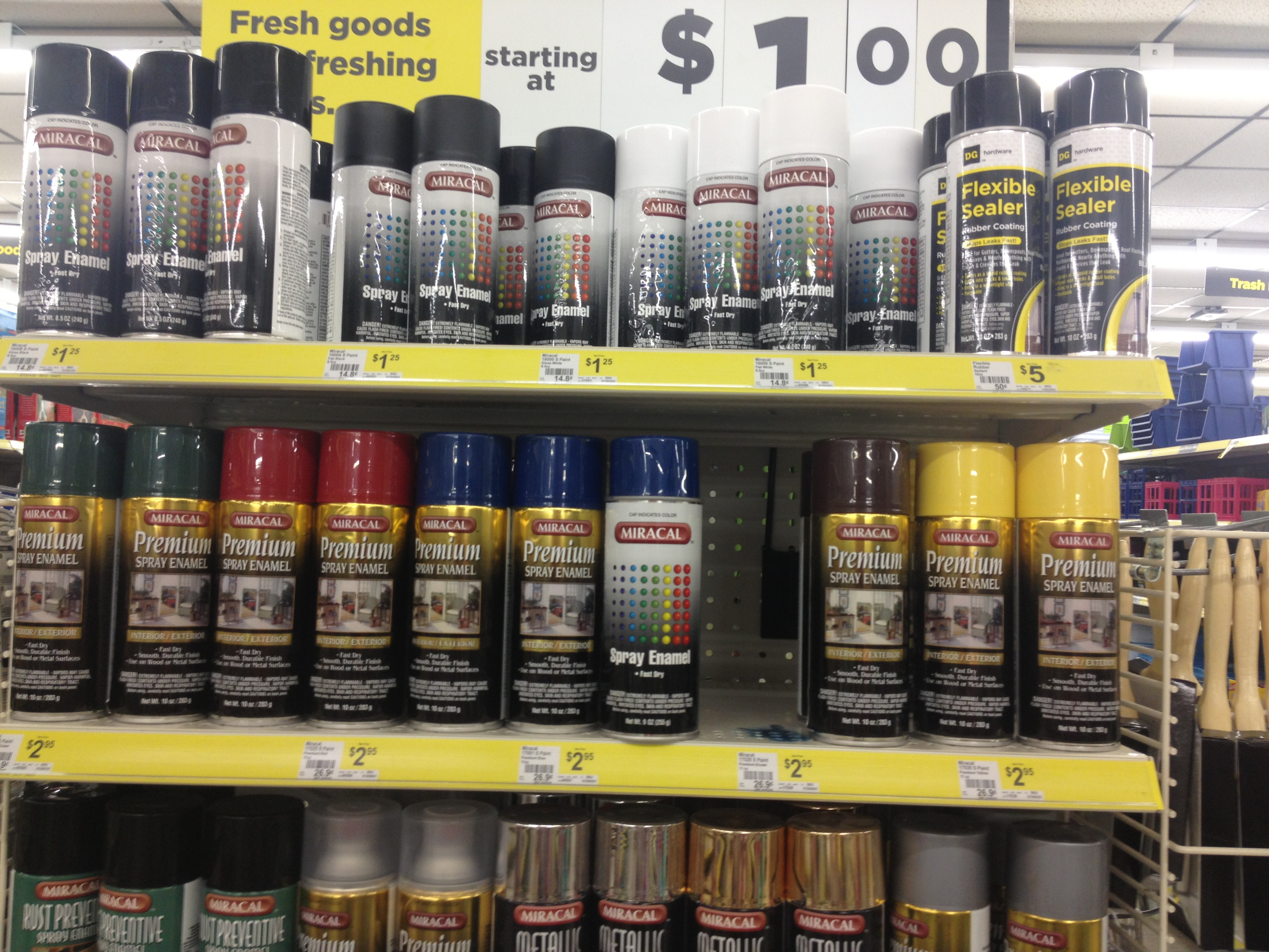 Does Dollar General Sell Spray Paint New Dollar