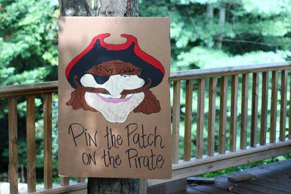 pin the patch on the pirate game for pirate party