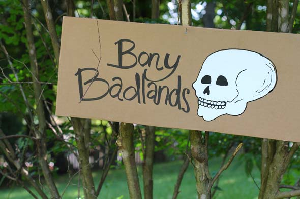 Bony Badlands for Pirate Party Treasure Hunt