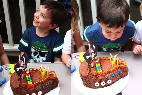 pirate party pirate ship cake