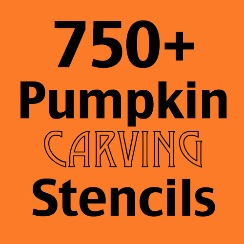 750+ pumpkin carving stencils