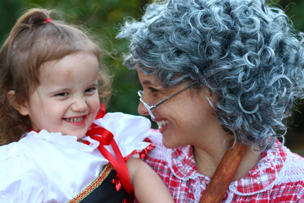 Red Riding Hood and grandma costumes