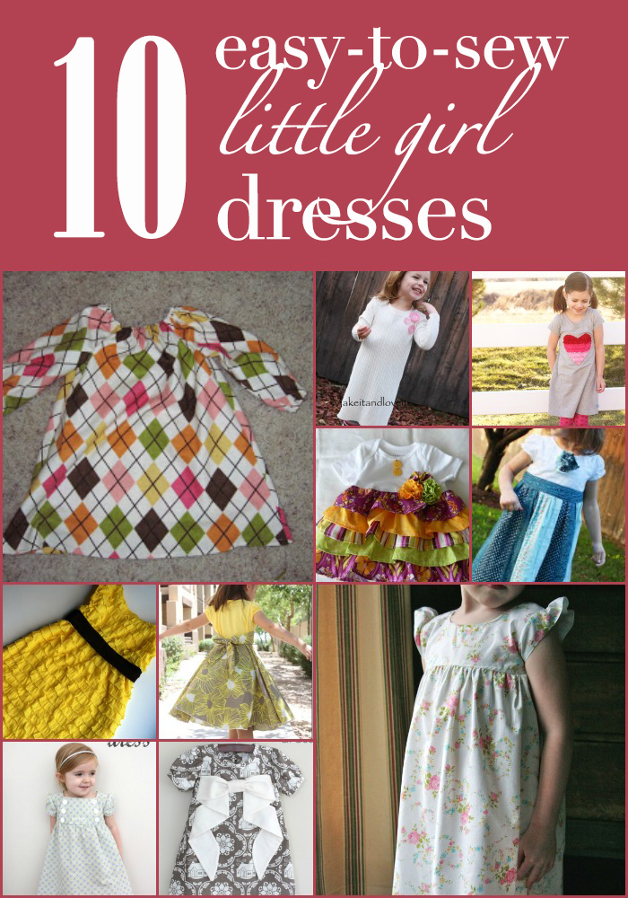 10 Easy-to-Sew Little Girl Dresses
