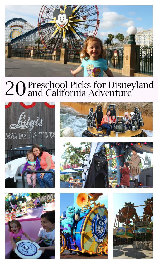 20 Preschool Picks for Disneyland and California Adventure