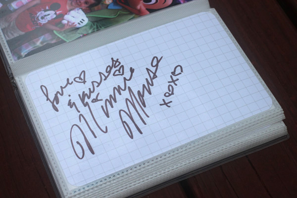 Disney DIY Autograph Book