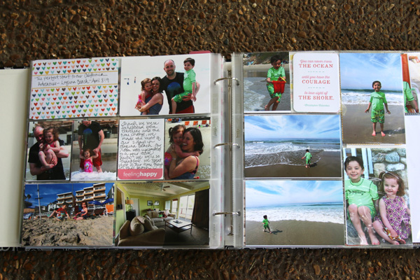 Beach photos project life