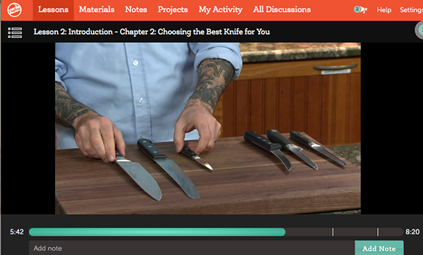 Free craftsy class how to use knives in the kitchen