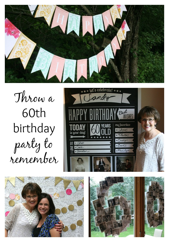 Throw a 60th birthday party to remember