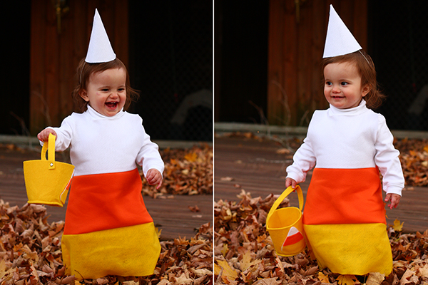 Easy Candy Corn Costume Tutorial