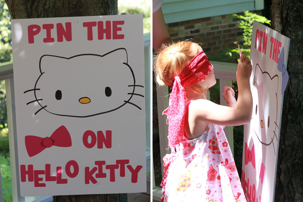 Hello Kitty party game Pin the bow on Hello Kitty