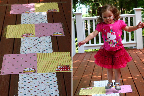 Hello Kitty Party Game Hopscotch