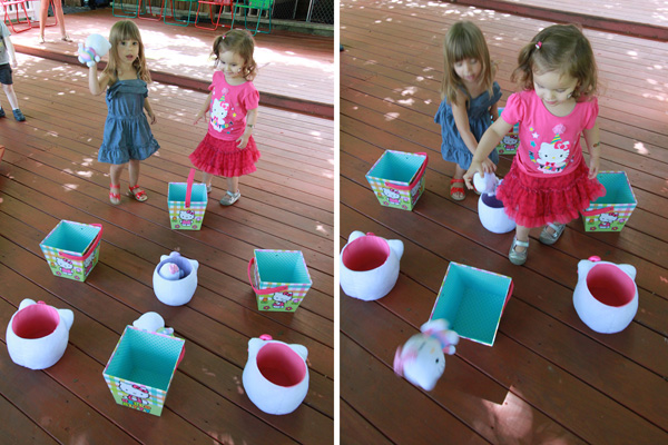 Hello Kitty party game Hello Kitty toss