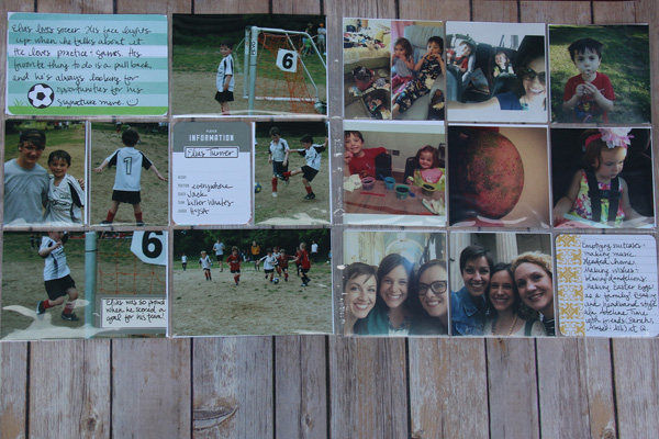 Project Life soccer pages