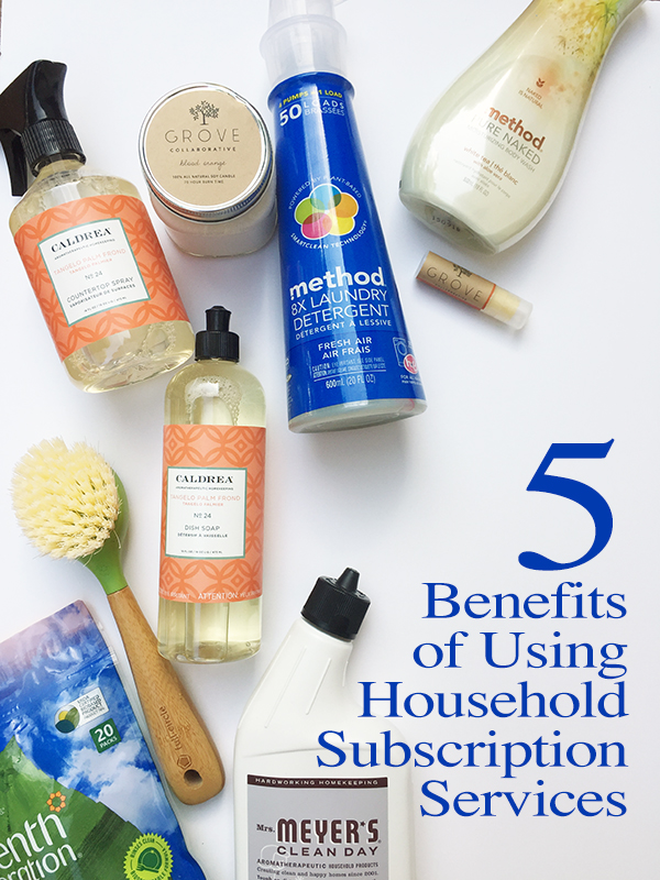 5 benefits of using household subscription services