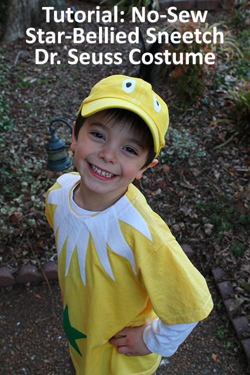 Tutorial No Sew Star Bellied Sneetch Dr Seuss Costume
