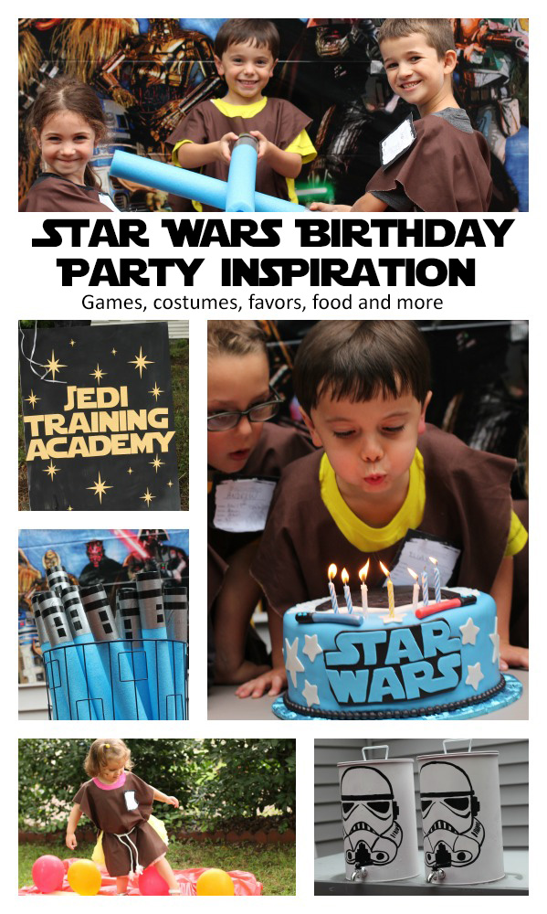 Star Wars Birthday Party Inspiration with details on how to have a jedi training academy