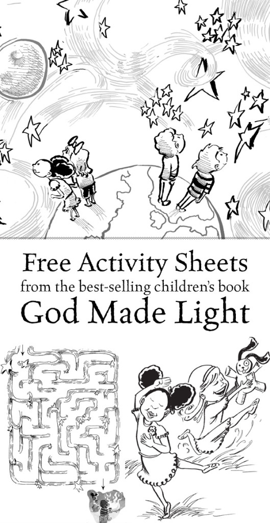 God Made Light Free Kids Printable Activity Sheets