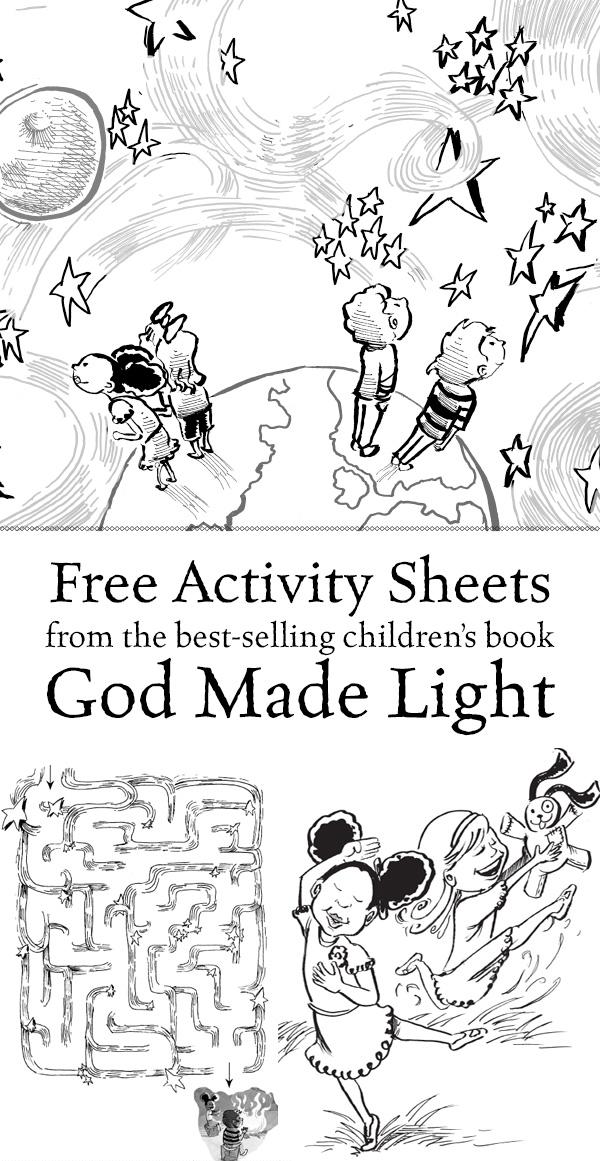 Free God Made Light Activity Sheets