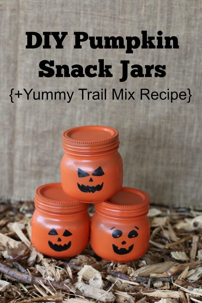DIY Pumpkin Snack Jars + Yummy Trail Mix Recipe