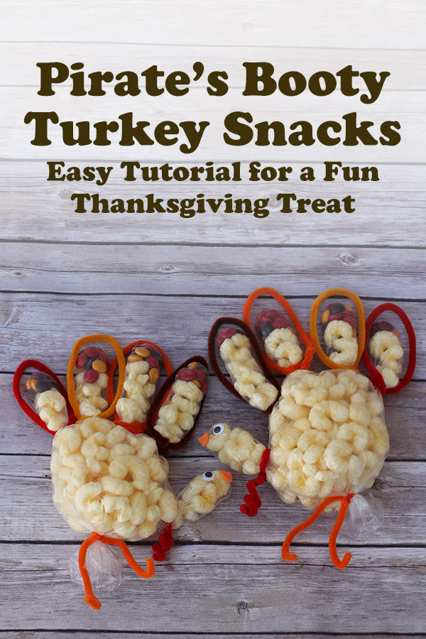 Pirate's Booty Turkey Snacks: Easy tutorial for a fun Thanksgiving treat