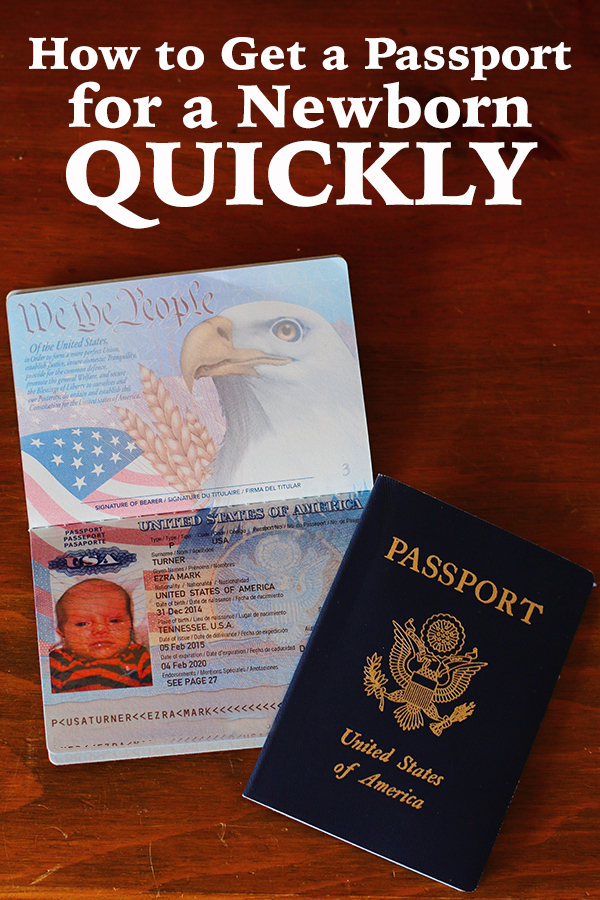How To Get A Newborn Passport Quickly - The Mom Creative
