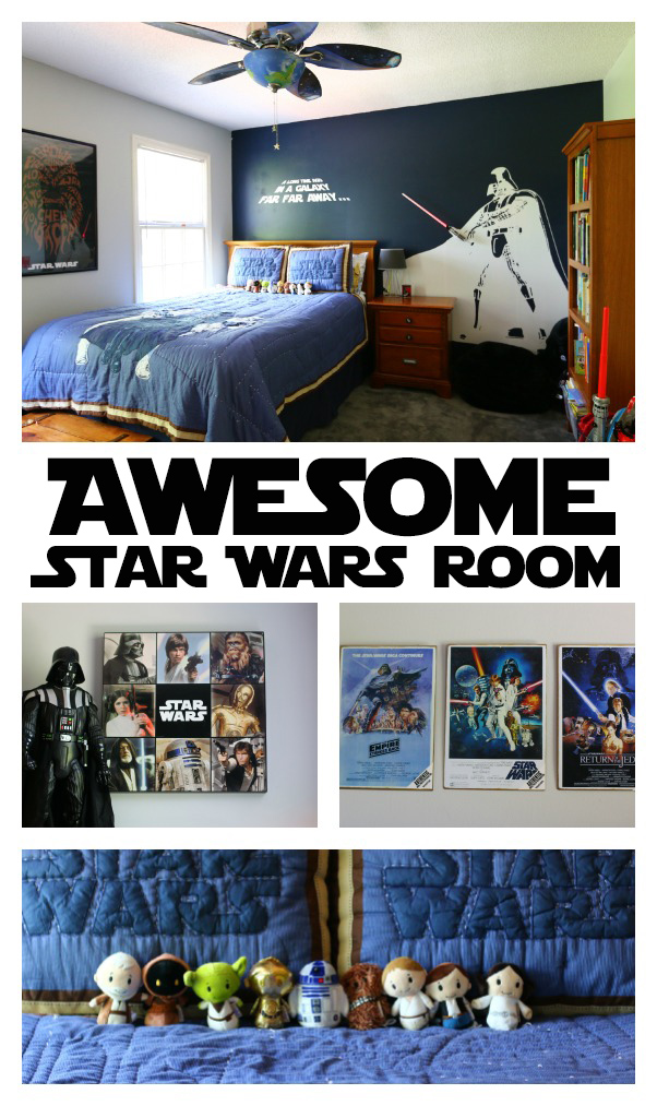 Star wars bedroom for a little boy for Star wars kids room decor