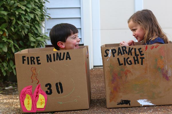 Creating Cardboard Box Cars