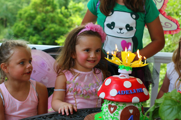 fairy party with fairy cake