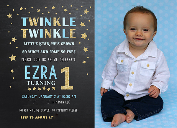 Twinkle twinkle little star party perfect for a boy or girls twinkle twinkle little star invitation stopboris Gallery