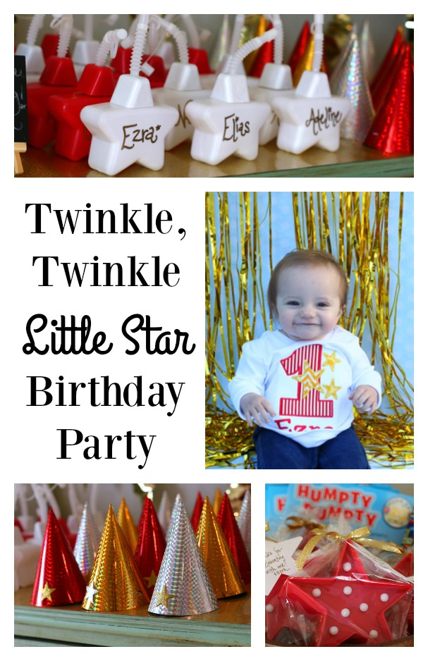 Twinkle Twinkle Little Star Birthday Party - perfect for a boy or girl's party