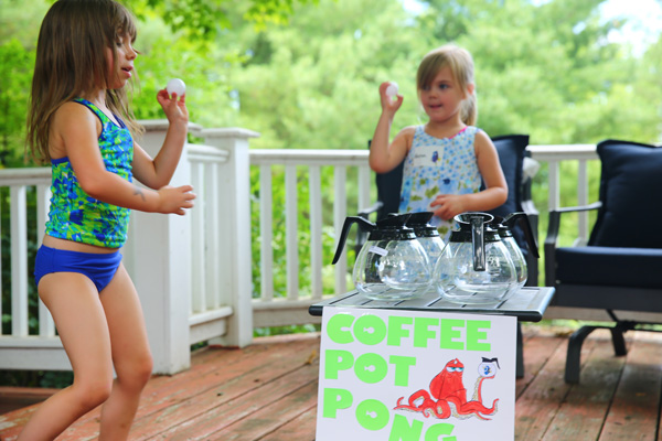 Coffee Pot Pong and other themed Party Games