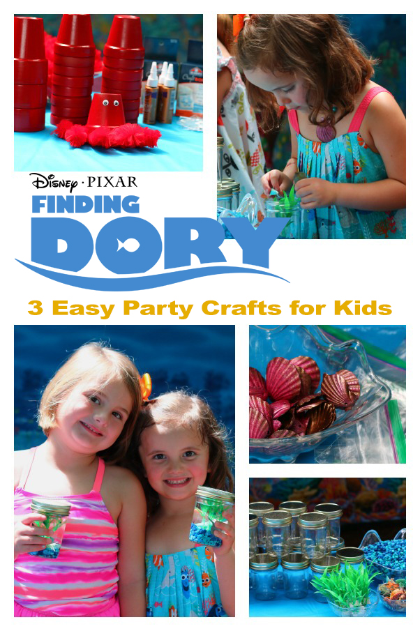 3 simple Finding Dory crafts to do at a Finding Dory Party