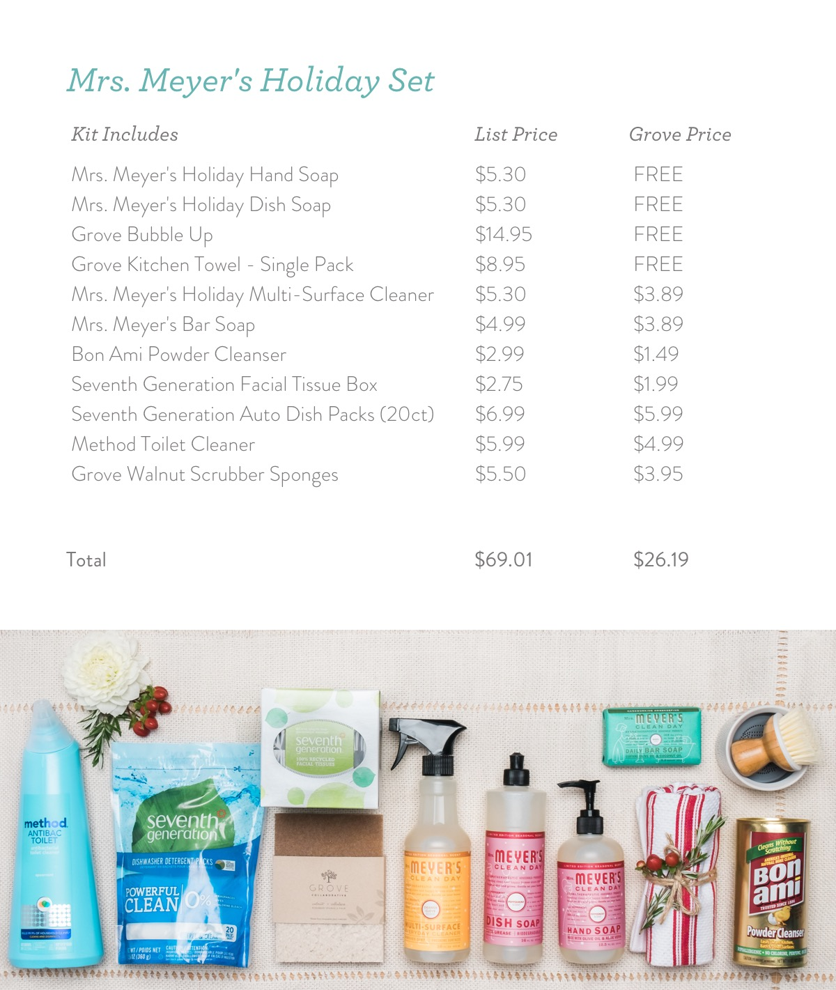 Free Mrs. Meyer's Holiday Products
