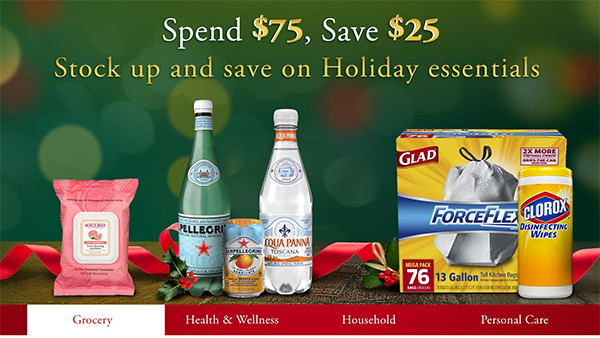 *HOT* Amazon: $25 off $75 Purchase (Grocery, Health, Toiletries, Personal Care)