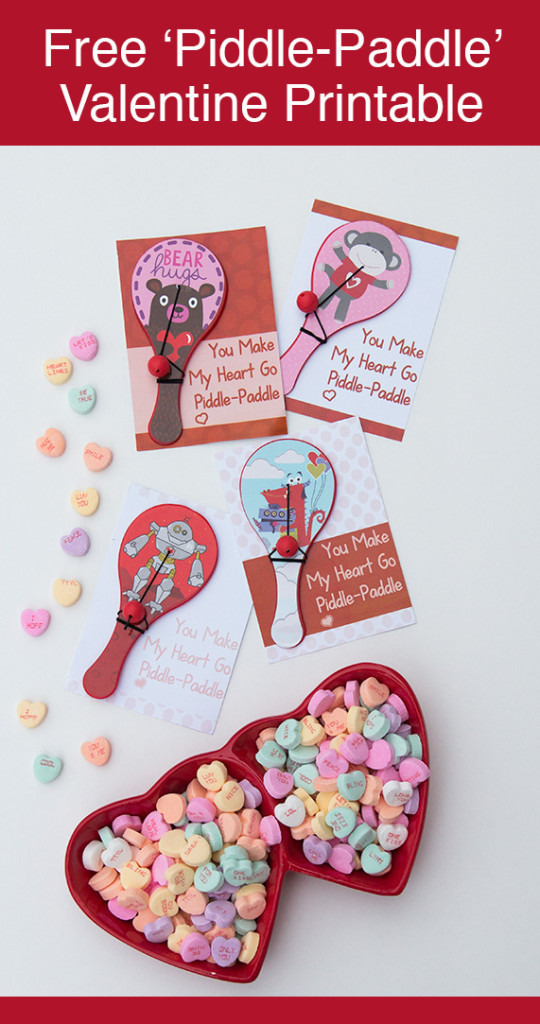 DIY Valentine: You Make My Heart Go 'Piddle-Paddle'