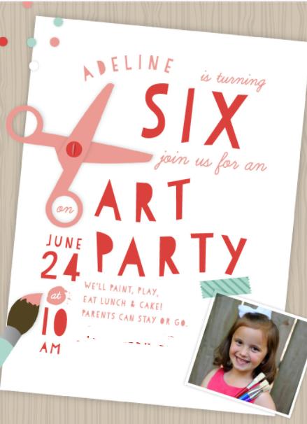 Adeline's 6th Birthday: Rainbow Art Party
