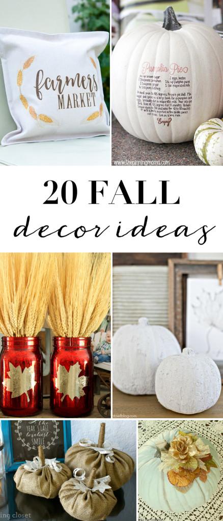 20 DIY Fall Decor Ideas