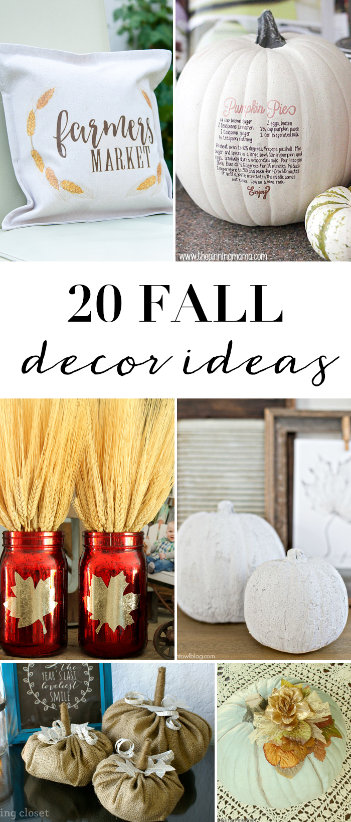 20 DIY Fall Decor Ideas