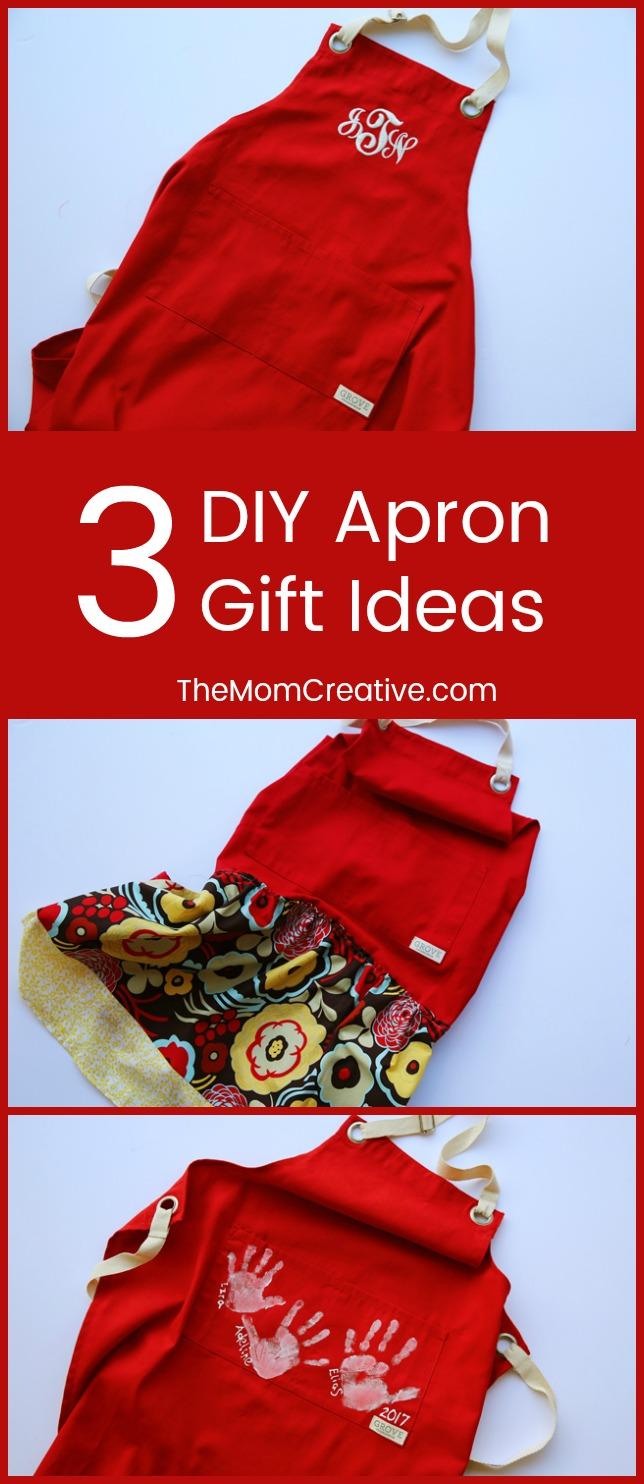 Gift Idea: 3 Easy DIY Aprons