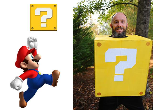 Mario Question Block Costume for family Mario Bros. Costumes