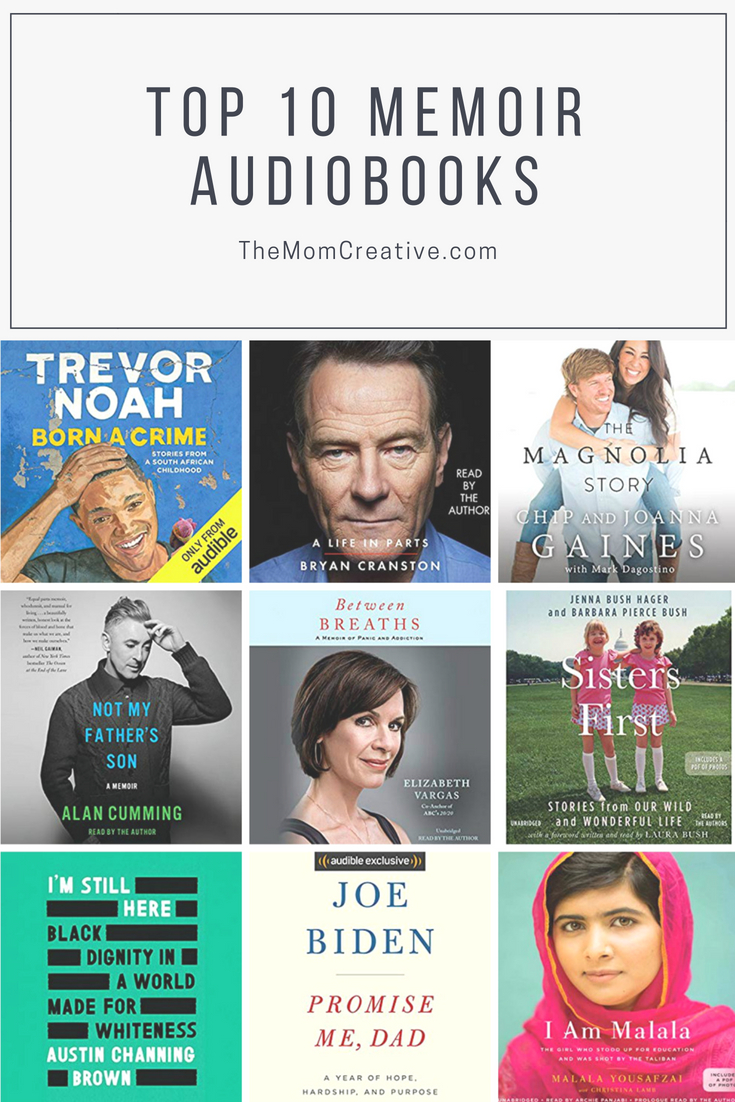 Top 10 Memoir Audiobooks | The Mom Creative