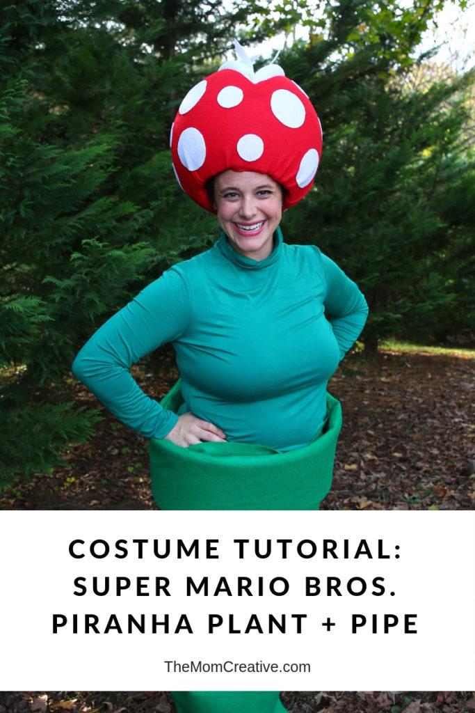 Costume Tutorial Super Mario Bros Piranha Plant Venus Fly Trap Pipe Costume